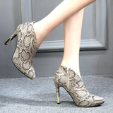 high heels pointed toe laides ankle boots