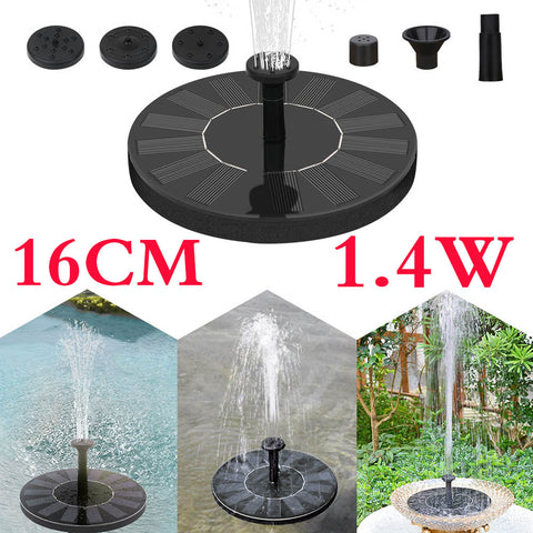 16cm Solar Garden Water Fountain