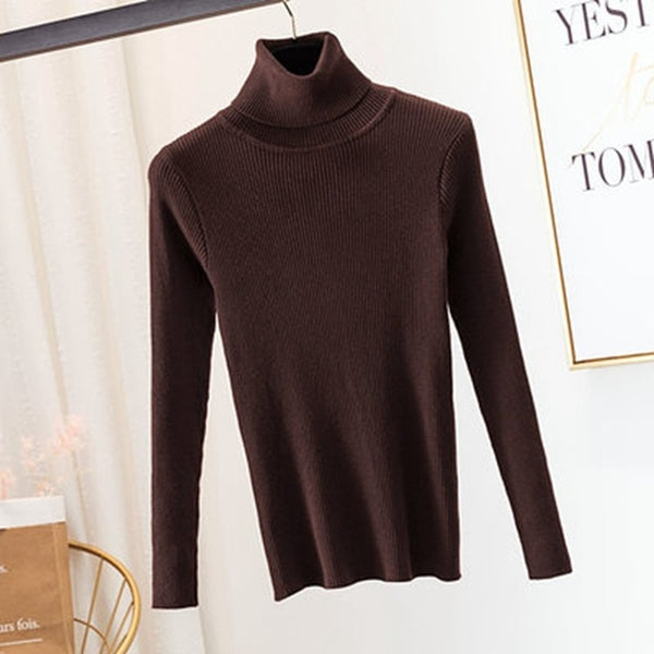 Knitted Sweater Pullovers Turtleneck Sweater