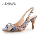 Thin Heel Embroidered cloth Party Ladies Shoe