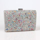 Women elegant fashion Splice Rhinestone clutch