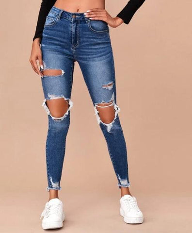 Raw Hem Ripped Skinnies (more color options)