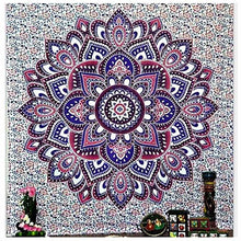 Blue, Purple and White Floral Tapestry