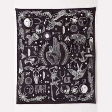 Abstract Multi Design Black and White Tapestry
