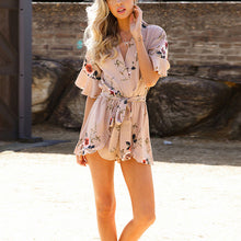 copy for varients Summer Women Romper Shorts Jumpsuit Sexy Short Sleeve Playsuit V Neck Bohemian Beach Overalls Casual Loose Clothing Bodysuit