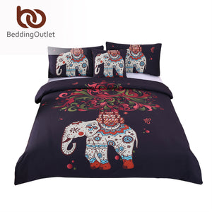 Elephant Inspired Bohemian Bedding Set