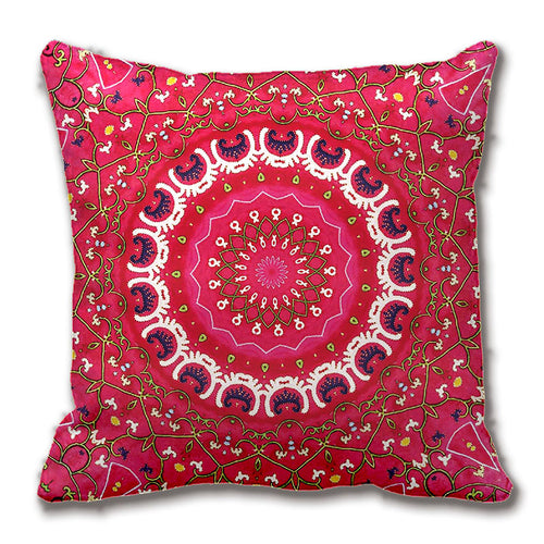 Boho Pattern Red Throw Pillow Cushion Cover