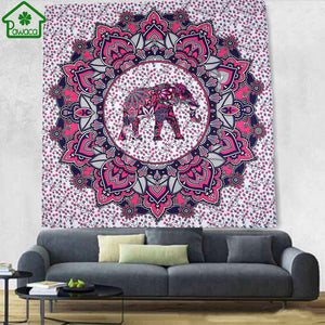 Colorful Elephant Tapestry