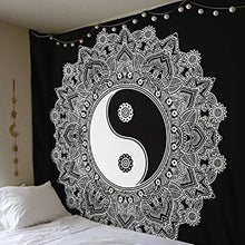 Yin and Yang Tapestry in Black and White