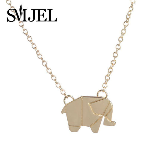 Origami Chain Elephant Necklace