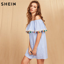 Short Sleeve Tassel Trim Dress