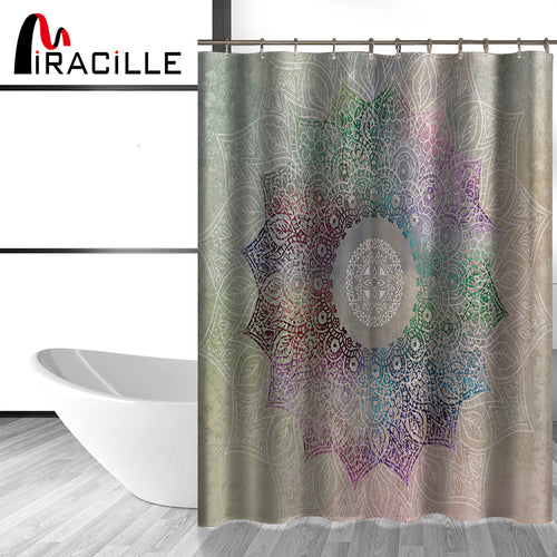 Modern  Flower Pattern Shower Curtain