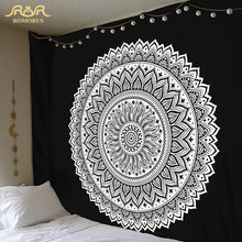 Unique Geometric Style Black and White Tapestries