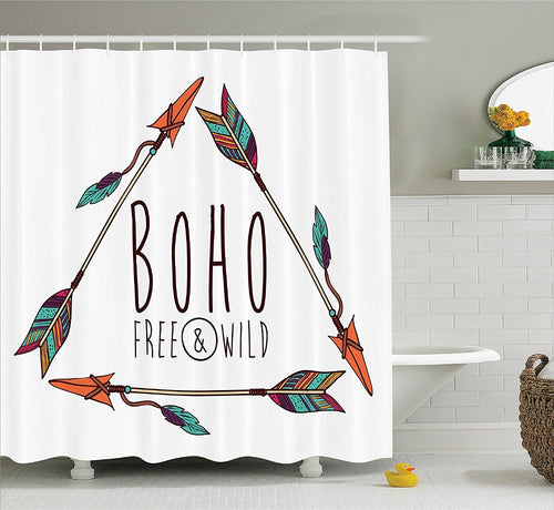 Free & Wild Boho Shower Curtain