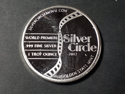 Silver Circle World Premier 1 oz .999  silver round 2012