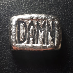 "chunky ""DAMN"" bar one troy oz .999 fine silver bar"