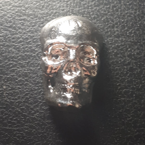 Beaver Bullion 2 troy oz .999 Pure Silver Skull