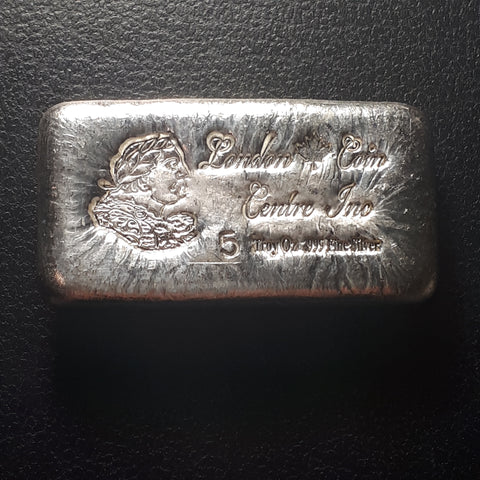 London Coin Centre Inc 5 troy oz .999 Pure Silver bar