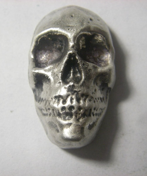 Beaver Bullion 1.5 oz .999 Pure Silver Antiqued Death Skull