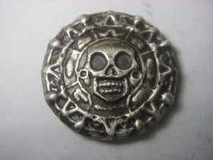 Beaver Bullion 3 oz Day of the Dead Antiqued .999 Silver Round