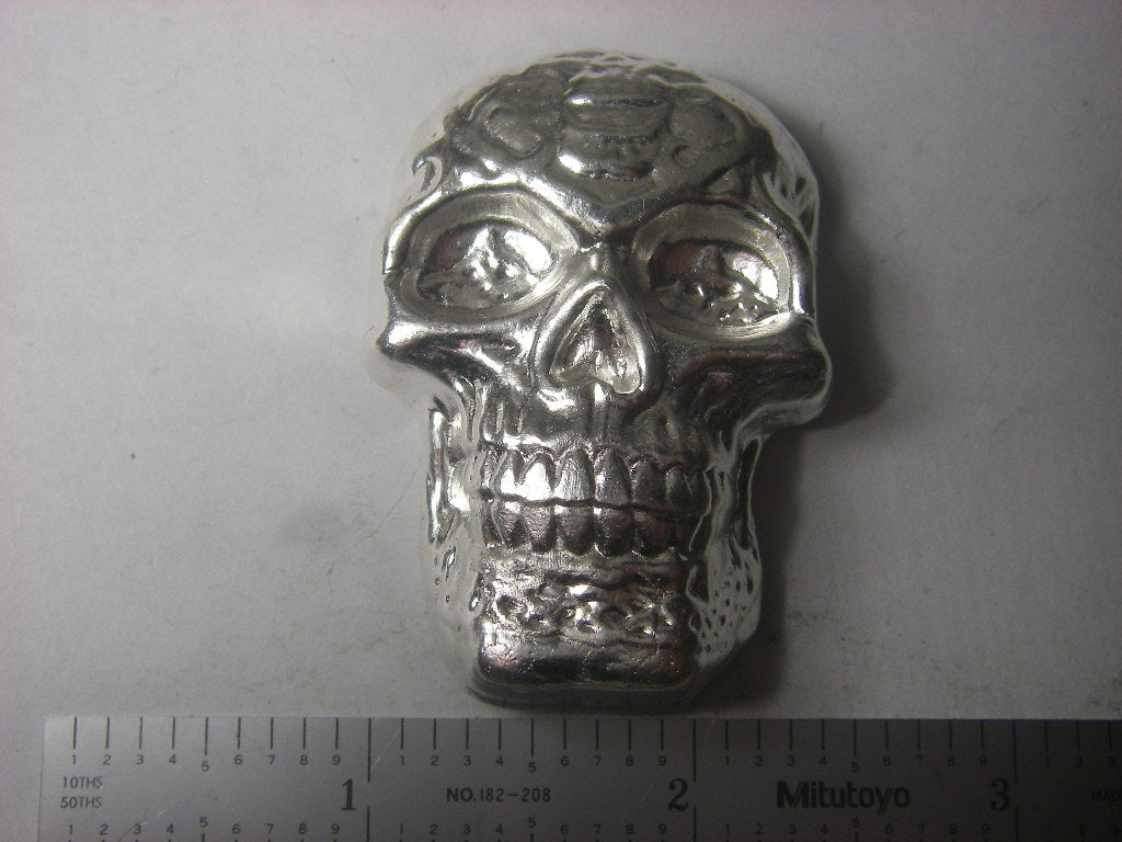 Beaver Bullion 5 oz .999 Pure Silver Celtic Skull Art bar