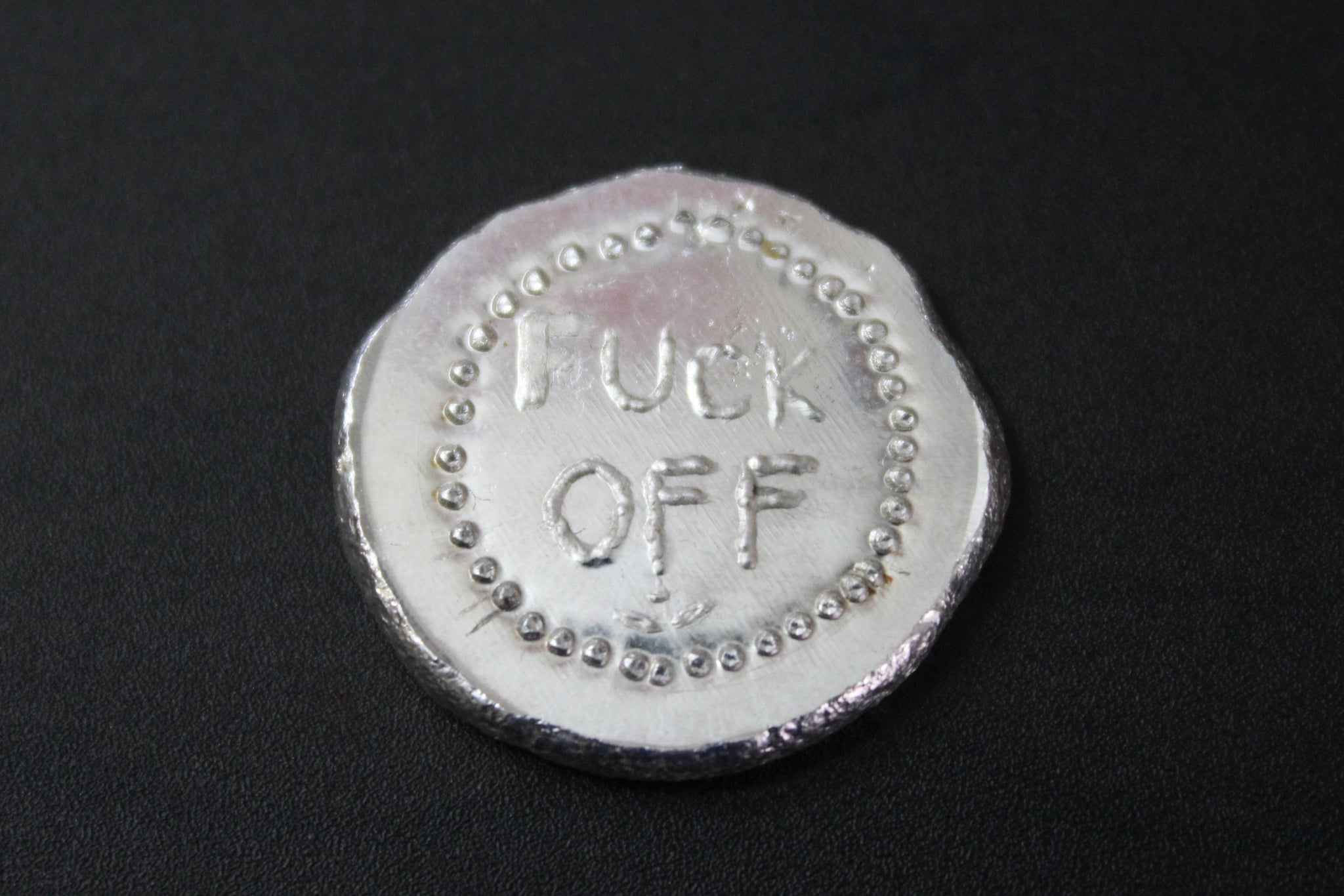Beaver Bullion  1/2 oz .999 Pure Silver Fuck Off Round