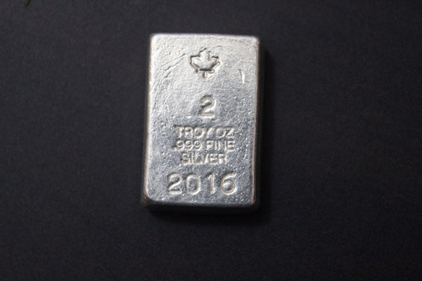 Masterson Hand Poured 2 oz .999 Pure Silver Bar