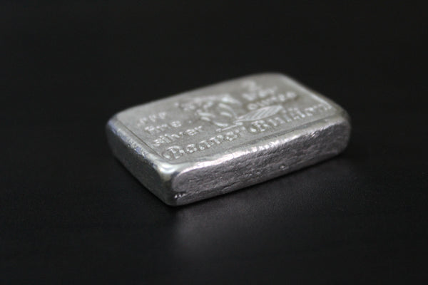 Beaver Bullion Hand Poured 2 oz .999 Pure Silver Bar