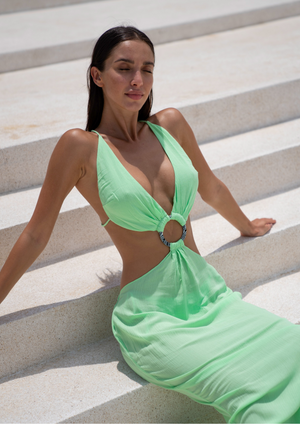 Load image into Gallery viewer, ZEPHYR DRESS - mint zest