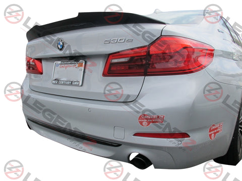 Carbon Fiber Rear Trunk Spoiler for 2017-2018 BMW 5 Series Sedan G30 / G38 Type D