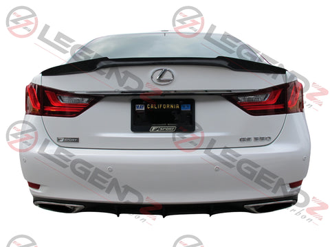 Carbon Fiber Rear Trunk Spoiler for 2012-2018 Lexus GS350 Sedan Type B