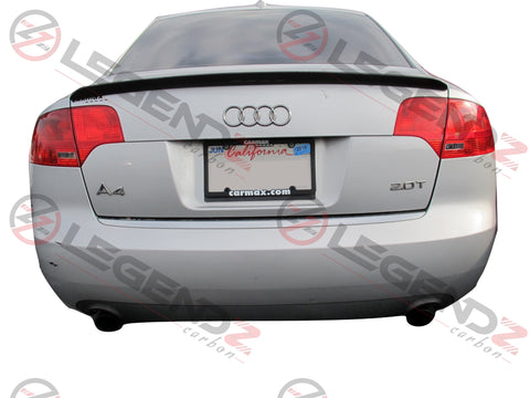 Carbon Fiber Rear Trunk Spoiler for 2005-2008 Audi A4 B7 Sedan Type F
