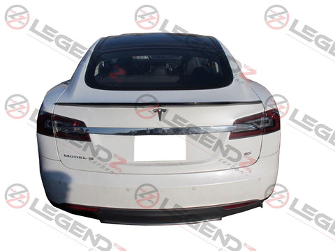 Carbon Fiber Rear Trunk Spoiler for 2012-2018 Tesla Model S Sedan Type B