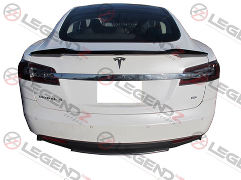 Carbon Fiber Rear Trunk Spoiler for 2012-2018 Tesla Model S Sedan Type A