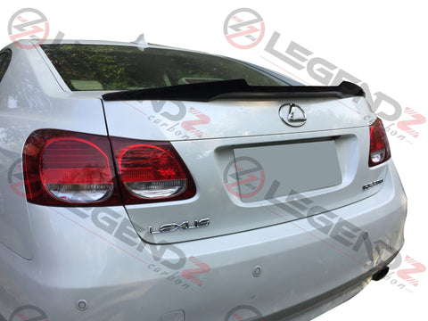 Carbon Fiber Rear Trunk Spoiler for 2005-2011 Lexus GS300 Sedan Type A