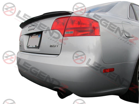 Carbon Fiber Rear Trunk Spoiler for 2005-2008 Audi S4 B7 Sedan Type B