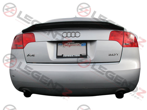 Carbon Fiber Rear Trunk Spoiler for 2005-2008 Audi S4 B7 Sedan Type A