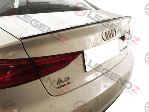 Carbon Fiber Rear Trunk Spoiler for 2013-2018 Audi S3 Sedan Type F