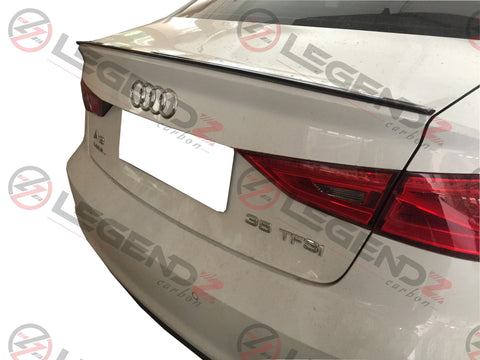 Carbon Fiber Rear Trunk Spoiler for 2013-2018 Audi A3 Sedan Type F