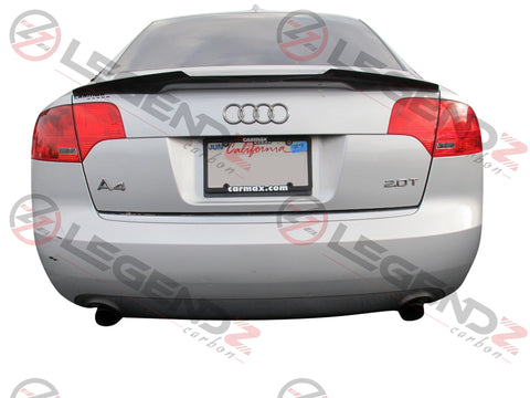 Carbon Fiber Rear Trunk Spoiler for 2005-2008 Audi S4 B7 Sedan Type D