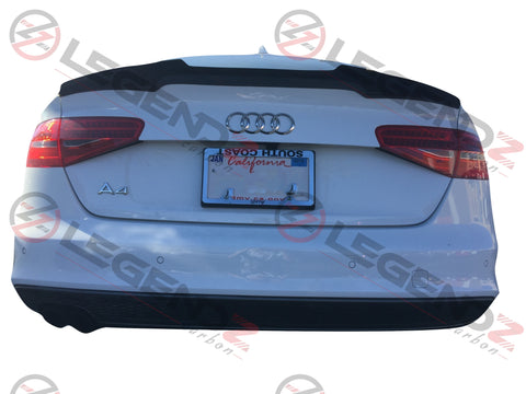 Carbon Fiber Rear Trunk Spoiler for 2013-2016 Audi S4 B8.5 Sedan Type D