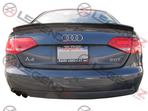 Carbon Fiber Rear Trunk Spoiler for 2009-2012 Audi S4 B8 Sedan Type B