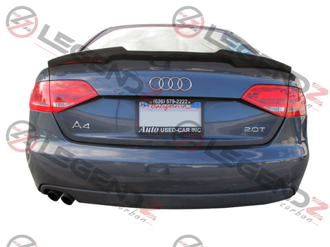 Carbon Fiber Rear Trunk Spoiler for 2009-2012 Audi A4 B8 Sedan Type D