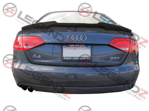 Carbon Fiber Rear Trunk Spoiler for 2009-2012 Audi S4 B8 Sedan Type D