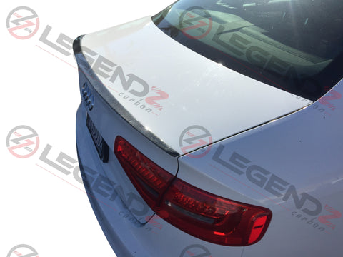 Carbon Fiber Rear Trunk Spoiler for 2012-2018 Audi A6 C7 Sedan Type F