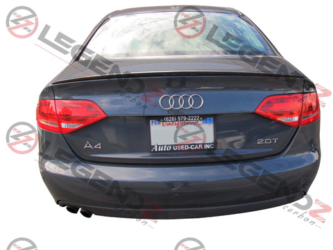 Carbon Fiber Rear Trunk Spoiler for 2009-2012 Audi S4 B8 Sedan Type F