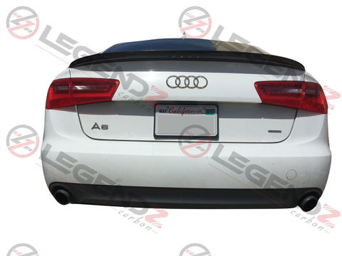 Carbon Fiber Rear Trunk Spoiler for 2012-2018 Audi A6 C7 Sedan Type C