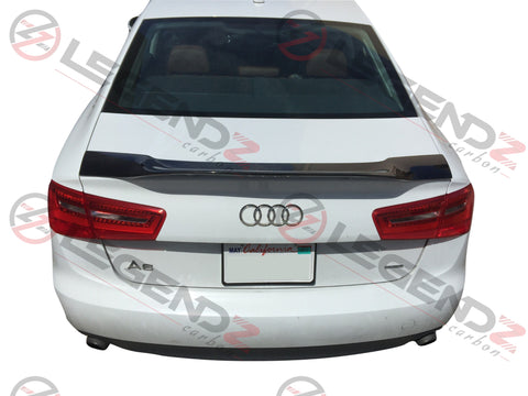 Carbon Fiber Rear Trunk Spoiler for 2012-2018 Audi A6 C7 Sedan Type E