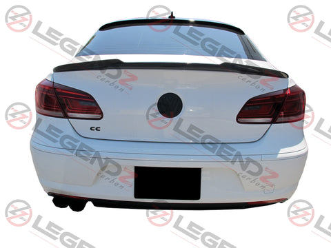 Carbon Fiber Rear Trunk Spoiler for 2008-2017 Volkswagen CC Sedan Type A