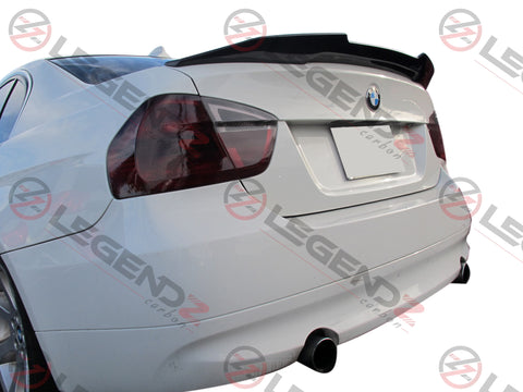 Carbon Fiber Rear Trunk Spoiler for 2005-2011 BMW 3 Series Sedan E90 Type D